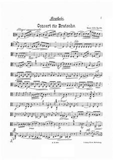 Konzert für Bratsche und Orchester in a-Moll, Op.68: Violastimme by Hans Sitt
