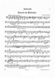 Konzert für Bratsche und Orchester in a-Moll, Op.68: Cellostimme by Hans Sitt