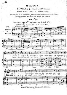 Milton. Romanze für Stimme und Klavier (oder Harfe): Milton. Romanze für Stimme und Klavier (oder Harfe) by Garspare Spontini