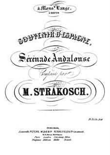 Serenade Andalouse: Serenade Andalouse by Moritz Strakosch