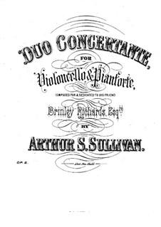 Konzertduo für Cello und Klavier, Op.2: Partitur by Arthur Sullivan