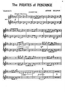 Vollständiger Oper: Klarinettenstimme by Arthur Sullivan