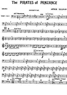 Vollständiger Oper: Schlagzeugstimmen by Arthur Sullivan
