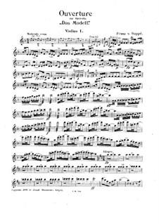 Ouvertüre zu 'Das Modell': Violinstimme I by Franz von Suppé