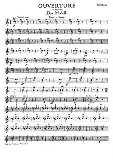 Ouvertüre zu 'Das Modell': Für Salonorchester – Schlagzeugstimme by Franz von Suppé