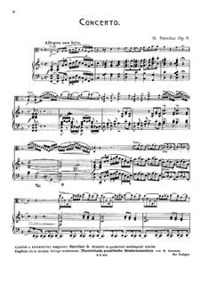 Konzert für Bratsche und Orchester Nr.1 in F-Dur, Op.6: Version für Viola und Klavier by Gustave Szerémi