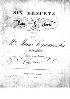 Sechs Menuette: Sechs Menuette by Maria Szymanowska