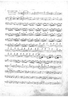 Le concert à la cour: Kontrabass-Stimme by Daniel Auber