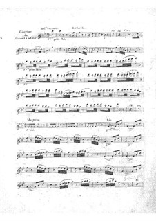 Le concert à la cour: Flötenstimme II by Daniel Auber