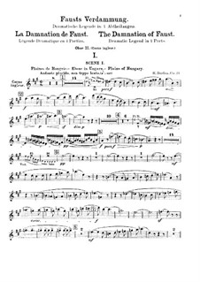 Fausts Verdammung, H.111 Op.24: Oboen- oder Englischhornstimme by Hector Berlioz
