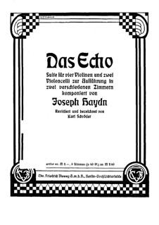 Das Echo für Streichsextett, Hob.II/39: Das Echo für Streichsextett by Joseph Haydn