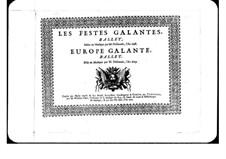 L'Europe galante: Haute-Contre part by André Campra