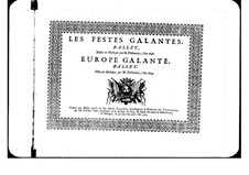 L'Europe galante: Basse part by André Campra