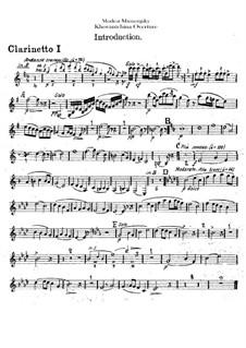 Fragmente: Introduktion – Klarinettenstimmen by Modest Mussorgski