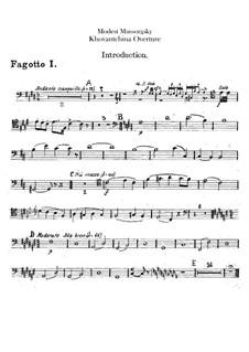 Fragmente: Introduktion – Fagottstimmen by Modest Mussorgski