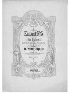 Konzert für Violine und Orchester Nr.5, Op.21: Solostimme by Bernhard Molique