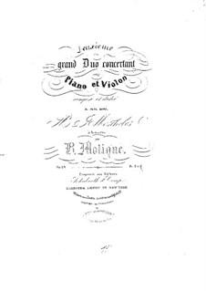 Grosses Konzertduo für Violine und Klavier Nr.2, Op.24: Grosses Konzertduo für Violine und Klavier Nr.2 by Bernhard Molique