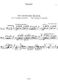 Der sterbende Kosack: Solostimme by Stanisław Moniuszko