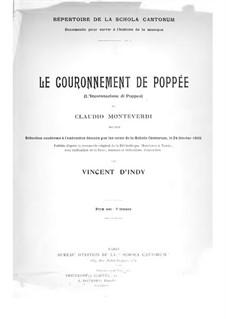 Die Krönung der Poppea, SV 308: Fragmente, für Stimmen und Klavier by Claudio Monteverdi