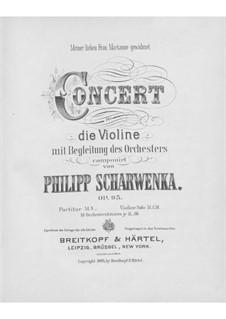 Violinkonzert in G-Dur, Op.95: Violinkonzert in G-Dur by Philipp Scharwenka