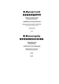 Fragmente: Akt III by Modest Mussorgski