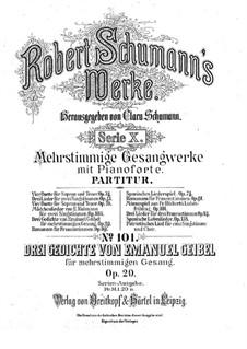 Drei Gedichte, Op.29: Vollsammlung by Robert Schumann
