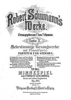 Minnespiel, Op.101: Vollständiger Satz by Robert Schumann