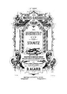 Zwei Divertissement für Violine: Zwei Divertissement für Violine by Carl Stamitz