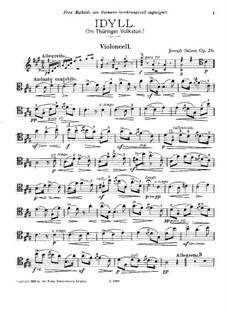Idylle für Cello und Klavier (oder Harfe), Op.26: Solostimme by Joseph Sulzer