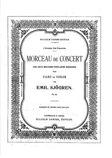 Konzertstück für Violine und Klavier, Op.45: Solostimme by Emil Sjögren