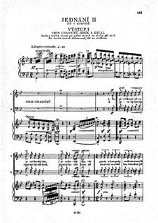 Vollständige Oper: Akt II, für Solisten, Chor und Klavier by Bedřich Smetana