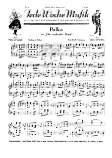 Drei Tänze: Polka, für Klavier by Bedřich Smetana
