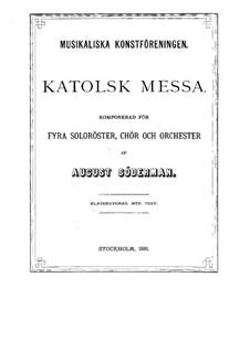 Missa Solemnis: Missa Solemnis by August Söderman