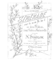 Serenade für Streichorchester, Op.3: Vollpartitur und Stimmen by Nikolai Sokolow