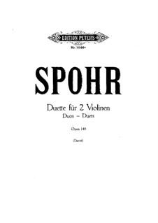Duett für zwei Violinen, Op.148: Violinstimme I by Louis Spohr
