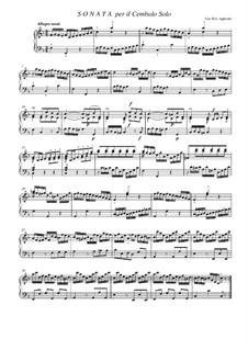 Cembalosonate: Cembalosonate by Johann Friedrich Agricola