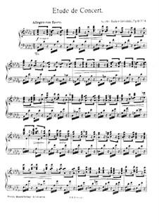 Sechs Konzertetüden, Op.11: Etüde Nr.1 in b-Moll by Agathe Backer Grøndahl