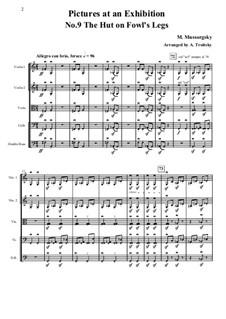 No.9 Die Hütte auf Hühnerfüssen (Baba-Jaga): Für Streicher – Partitur, Stimmen by Modest Mussorgski