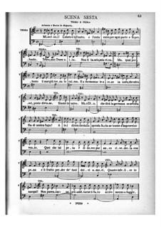 Arianna: Akt I, Szenen 6-12 – Klavierauszug mit Singstimmen by Benedetto Marcello