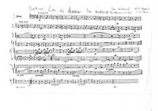 Reich mir die Hand, mein Leben: Cello- und Kontrabass-Stimme by Wolfgang Amadeus Mozart