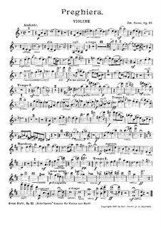 Preghiera, Op.35: Violinstimme by Johannes Snoer