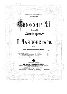 Sinfonie Nr.1 in g-Moll 'Winterträume', TH 24 Op.13: Für zwei Klaviere, achthändig – Klavierstimme I by Pjotr Tschaikowski