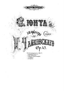 Suite Nr.1 in d-Moll, TH 31 Op.43: Klavierauszug by Pjotr Tschaikowski