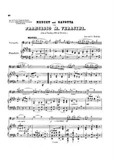 Sonate für Violine und Generalbass: Teile II-III. Bearbeitung für Cello und Klavier by Francesco Maria Veracini