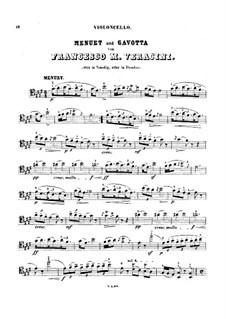 Sonate für Violine und Generalbass: Teile II-III. Bearbeitung für Cello und Klavier – Solo Stimme by Francesco Maria Veracini