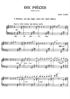 Zehn Klavierstücke: Zehn Klavierstücke by Jehan Alain