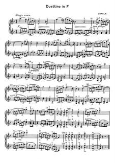 Duettino für zwei Violinen in F-Dur: Duettino für zwei Violinen in F-Dur by Charles Dancla