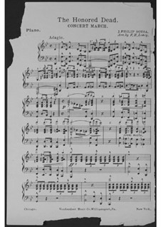 The Honored Dead. Concert March: Klavierstimme (Conductor) by John Philip Sousa