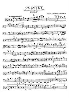Klavierquintett in B-Dur: Fagottstimme by Nikolai Rimsky-Korsakov