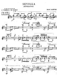 Nr.3 Sevilla: Für Gitarre by Isaac Albéniz